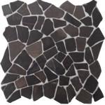 "Bruchmosaik aus Marmor ""Palladiana Grigio"""