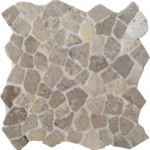 "Bruchmosaik aus Marmor ""Palladiana Grigio hell"""