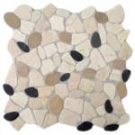 Fliesen in kieseloptik aus echtem marmor fliesenonkel for Anthrazit kieselsteine