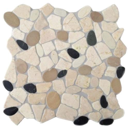 Marmor bruch mosaik fliesen verlegen badezimmer