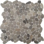 """Kieselsteine auf Matten beidseitig geschnitten """"grau"""""""