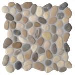 """Mosaik aus Kieselsteinen für die Dusche """"Mix cremeweiss-grau-braun"""""""
