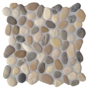 Mosaik Kieselsteine KM101C verfugt und versiegelt