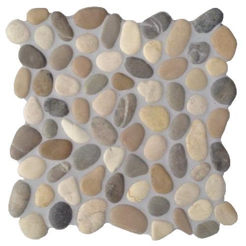 Naturstein Mosaik In Der Dusche : Mosaik aus Kieselsteinen f?r die Dusche :: FLIESENONKEL
