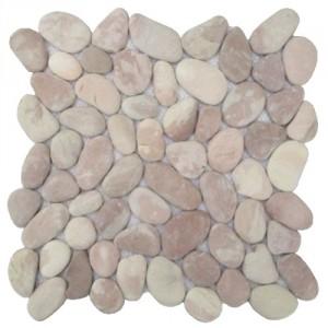 Mosaik aus Kieselsteinen KM004C verfugt