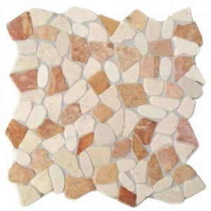 Natursteinmosaik Kieselmosaik mit Bruchmosaik KMBM106 verfugt