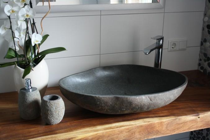 traumb der mit naturstein farbverlauf aus kieselmosaik der fliesenonkel. Black Bedroom Furniture Sets. Home Design Ideas