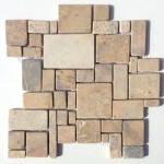 """Wandverkleidung aus Naturstein """"Marmor Irregulare Marrone"""""""