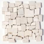 """Wandverkleidung aus Naturstein """"Marmor Frammenti Crema"""""""
