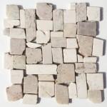 """Wandverkleidung aus Naturstein """"Marmor Frammenti Crema / Marrone"""""""