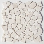 "Bruchmosaik aus Marmor ""Palladiana Creme"""