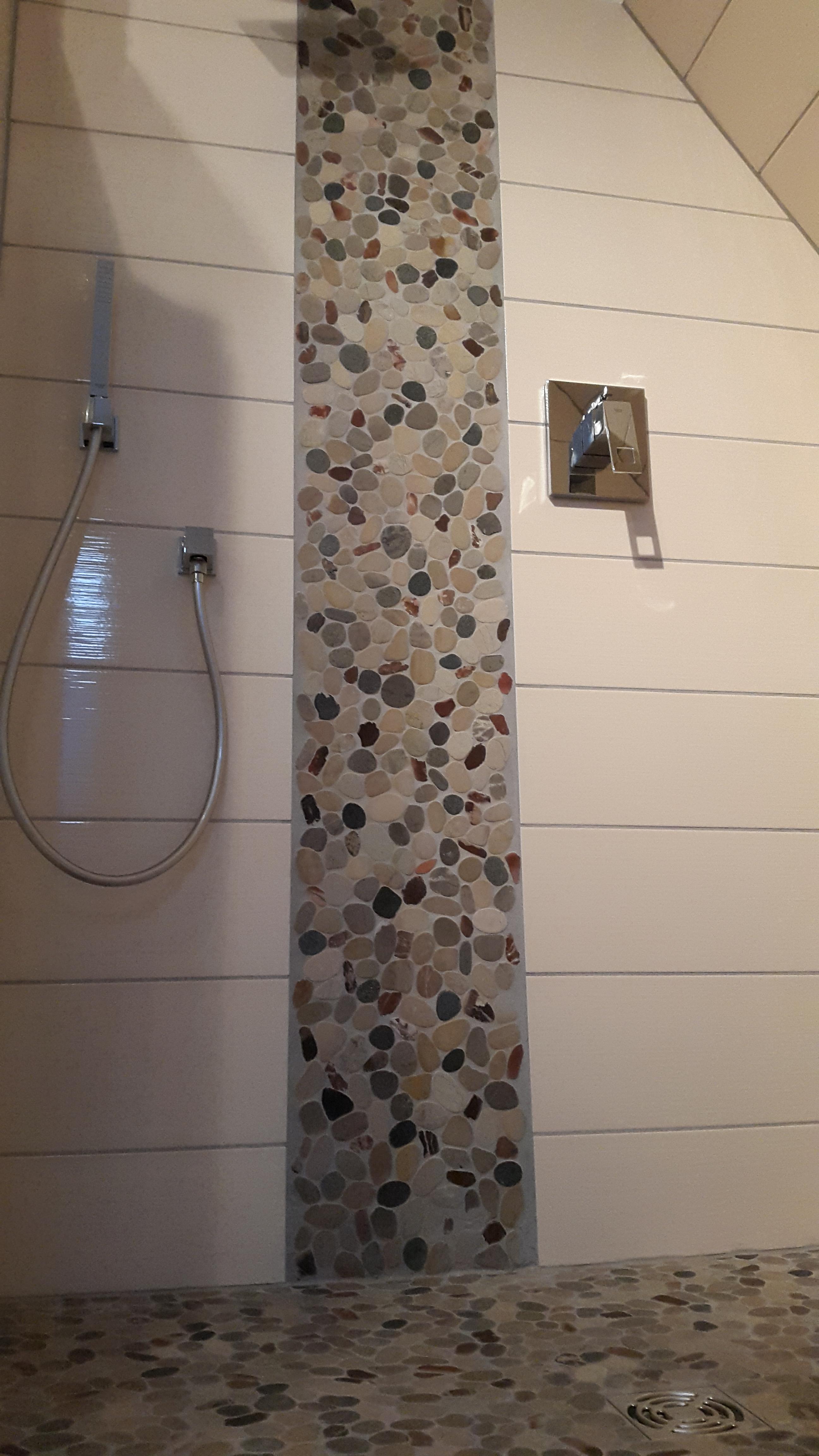 Dusche Mit Bodenablauf, Flusssteinmosaik :: Fliesenonkel Fliesen Mosaik Dusche