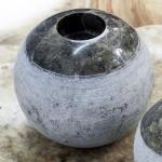 Kerzenständer Marmor grau