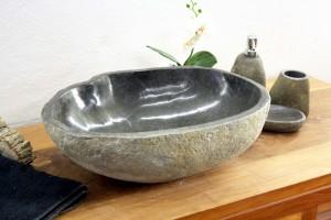 Steinwaschbecken Findling mit natürlicher Form