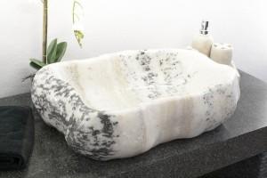 Waschbecken Findling aus Marmor