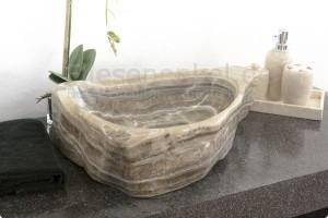 Waschbecken Findling aus Onyx