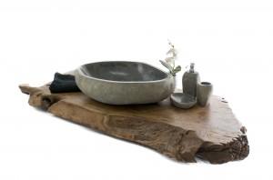 Waschtischplatte aus altem Holz