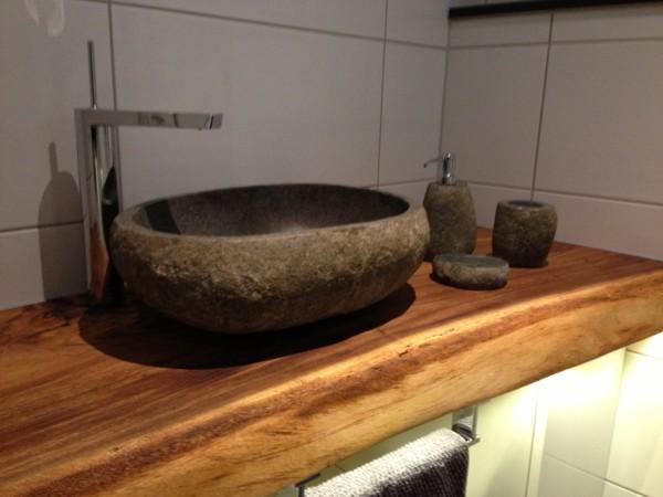 Eden Bath S028PWP Natural Stone Sink  Petrified Wood