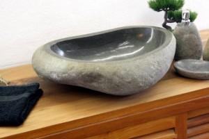 Aufsatzwaschtisch aus Stein