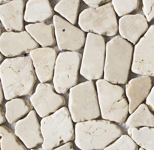 Bruchmosaik aus Marmor