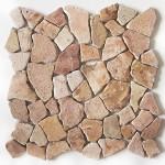 Bruchstein Mosaik farbvertieft