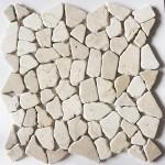Bruchstein Mosaik aus Marmor mit Farbvertiefer