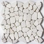 Bruchstein Mosaik aus Marmor mit Fleckstop