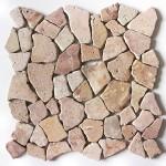 Bruchstein Mosaik unversiegelt