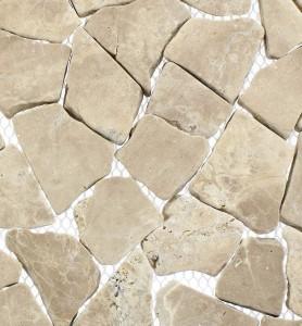 Bruchsteinmosaik Moccacino Nahaufnahme