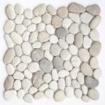 """Flusskiesel Mosaik """"Mix weiss / grau / braun"""""""