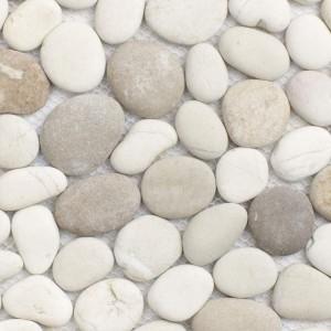 Flusskiesel Mosaik KM101A unversiegelt Nahaufnahme