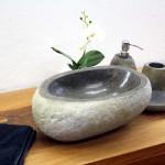 Aufsatzwaschbecken Stein