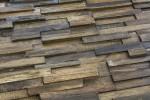 "Wandverkleidung aus Holz ""Slimline Teak"""